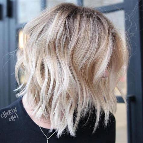 shaggy rough long bob 80 sensational medium length haircuts for thick hair in 2018