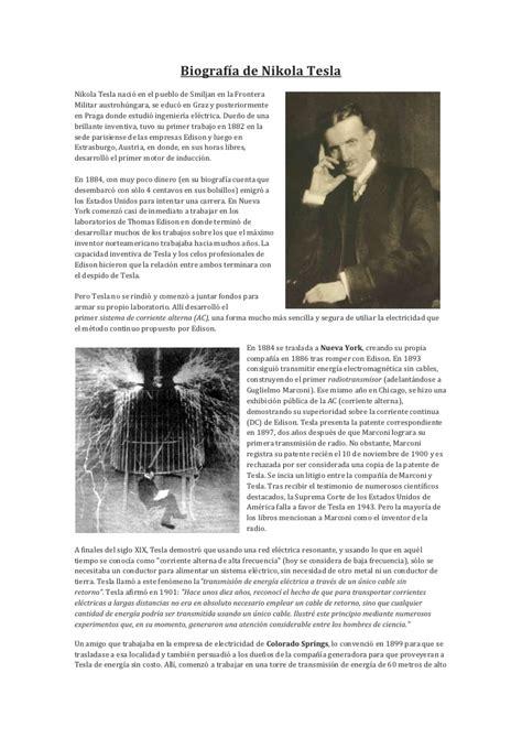 biography en ingles de nikola tesla biograf 237 a de nikola tesla