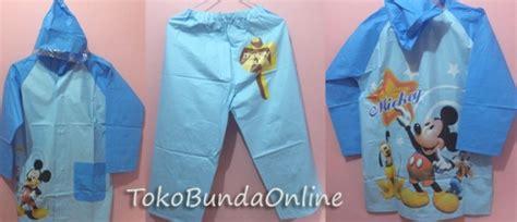 Celana Spongebob Biru Pudar Perlengkapan Hujan