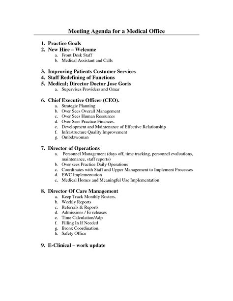 10 Best Images Of Office Meeting Agenda Format Medical Office Staff Meeting Agenda Office Dental Practice Meeting Template