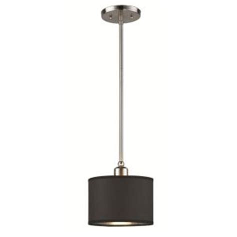 Hton Bay Lighting Fixtures Catalog Hton Bay Murray 1 Light Brushed Nickel Hanging Mini Pendant Es0746bn The Home Depot