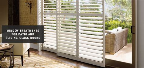 window treatments for sliding glass doors in bedroom blinds shades amp shutters for sliding glass doors blind