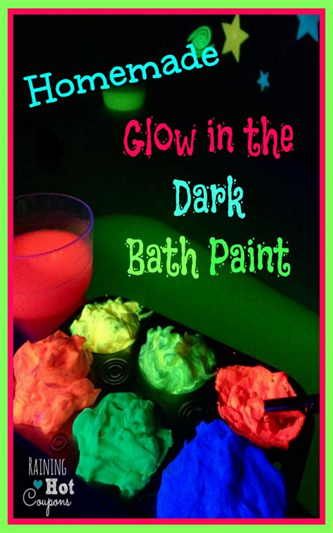 how to make glow in the paint diy glow in the bath paint