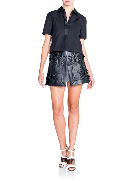 fendi orchid leather skirt in black lyst