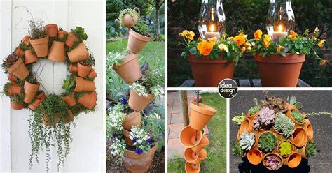 decorare vasi di terracotta decorazioni originali con i vasi in terracotta 20 idee