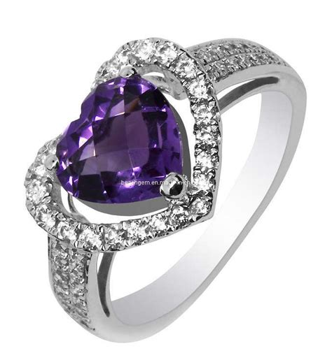 china fashion amethyst silver ring jewelry gr0024