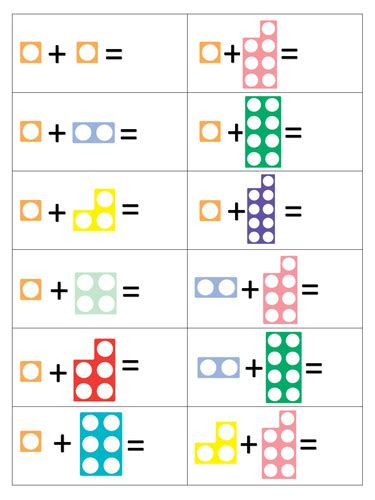 printable numicon numbers numicon addition to 10 preschool worksheet pinterest