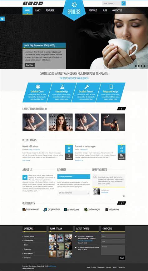 themeforest design spotless multi purpose html5 wordpress theme http