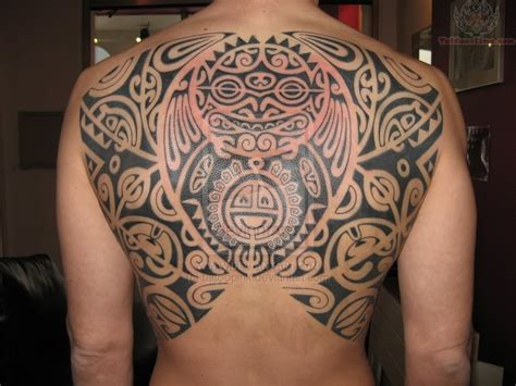 polynesian back tattoo maori and polynesian back