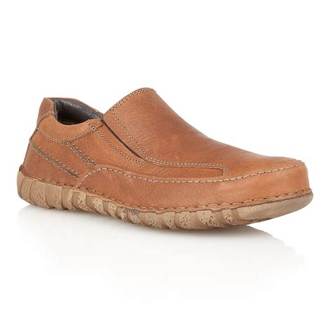 loafers for lotus bedworth slip on casual loafers in brown for lyst