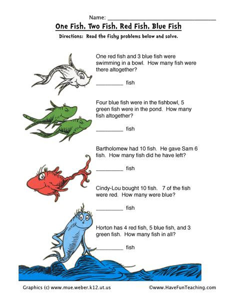 Dr Suess Worksheets by Dr Seuss Math Worksheet Teaching