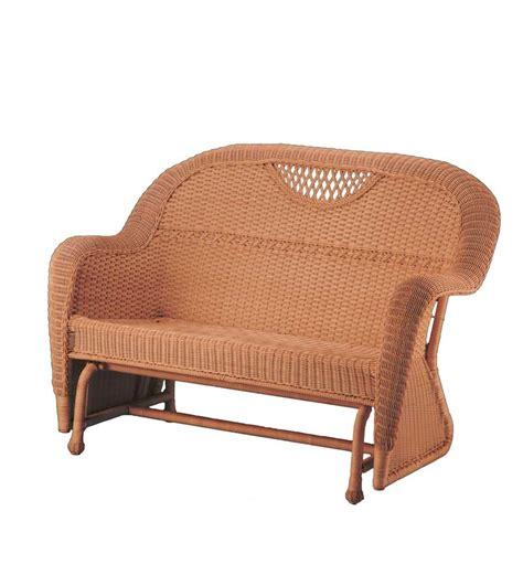 Prospect Hill Furniture Glider Set Patio Plow Hearth Wicker Glider Patio Furniture