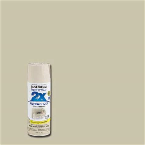 rust oleum painter s touch 2x 12 oz almond gloss general purpose spray paint of 6 249125