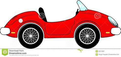 cartoon convertible car red convertible car cartoon stock vector illustration of