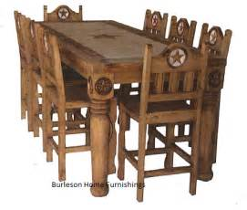 Western Dining Room Sets Rectangle Rustic Dining Table With Marble Inlay Real Wood Cabin Lodge Western Ebay
