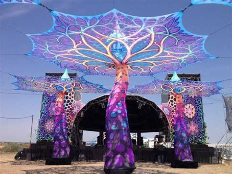 festival decorations outdoor festival decor open air trance festival decor