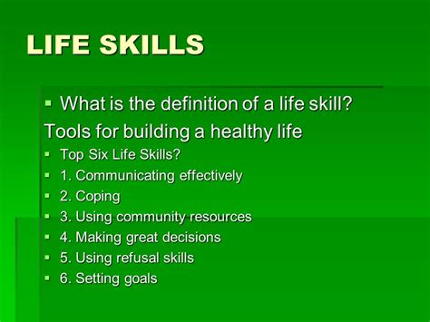 popular biography definition life skills what is the definition of a life skill ppt