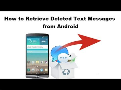 how to retrieve deleted texts from android how to retrieve deleted text messages from android