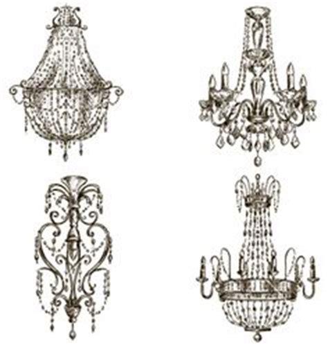 kronleuchter zeichnen four chandelier drawings zeichnungen und zeichnen