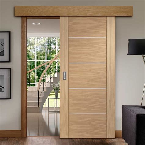 single sliding door wall track portici oak flush door