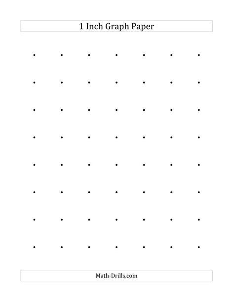 1 Inch Dot Paper (A) Graph Paper