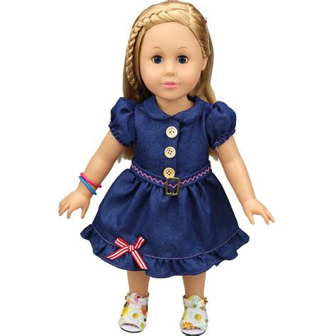 Denim Babby Doll popular 18 quot doll clothes cotton denim skirt fashion dress american princess baby doll