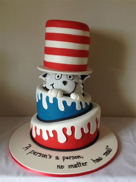 Cat Baby Hat cat in the hat baby shower cake at slice