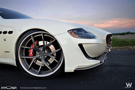 maserati quattroporte on pur wheels by design