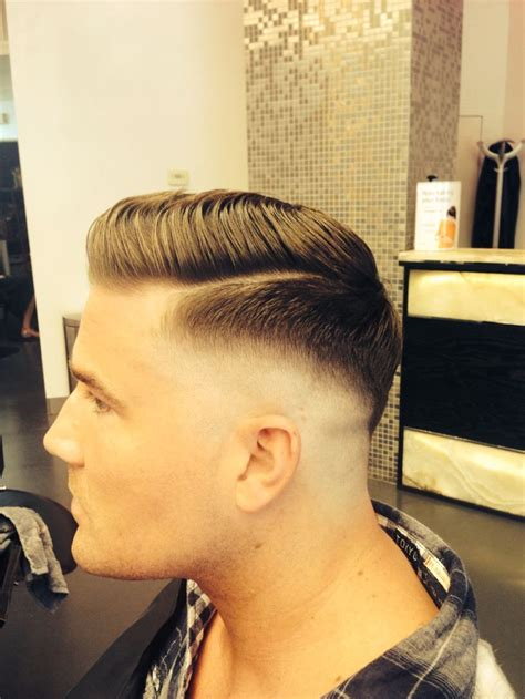 fade haircut razor lengths razor fade pompadour cool haircuts men cuts pinterest