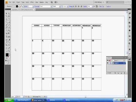 illustrator pattern yapimi adobe illustrator cs4 calendar tutorial part two youtube