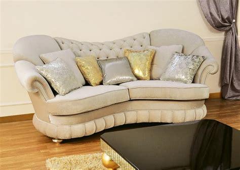 halbrunde sofas im klassischen stil sofas gepolstert gesteppte r 252 ckenlehne klassischen stil