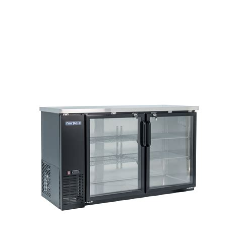 Back Bar Coolers With Glass Doors Norpole Npgb 60 60 In 2 Glass Door Back Bar Cooler Led Lights Quality Restaurant Equipment Masters