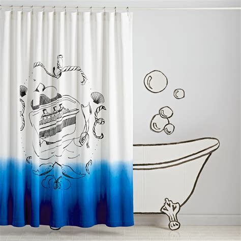 land of nod bathroom ship in a bottle shower curtain the land of nod