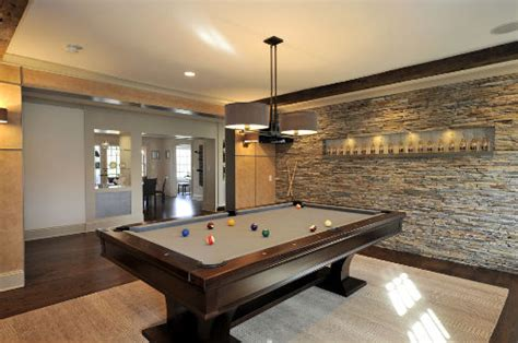 Pool House Bathroom Ideas accent wall pool table livinator
