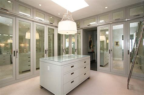 How Much Are Mirrored Closet Doors Mirrored Doors In A Contemporary Closet Decoist