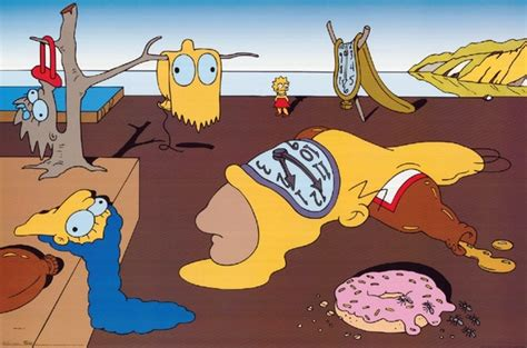 simpsons painting the simpsons salvatore dali the persistence of memory mock