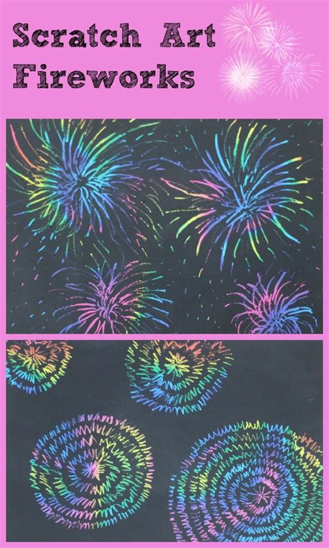 Make Your Own Scratch Paper - scratch paper fireworks and make your own scratch paper