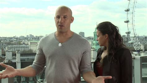 fast and furious 8 vin diesel interview fast furious 6 vin diesel michelle rodriguez