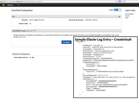 console log data web services data retrieval policies and