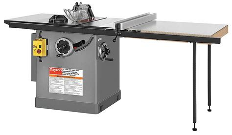 cabinet table saw dayton cabinet table saw 12 in blade 49g997 49g997 grainger
