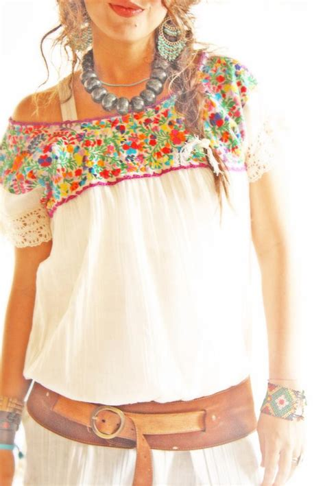 Embroided Blouse mexican blouse embroidered mexican blouse
