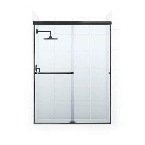 Coastal Shower Doors Paragon 3 16b Series 56 In X 69 In Sliding Shower Door Towel Bar