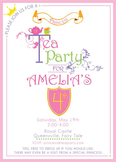 girls tea party invitation home party ideas