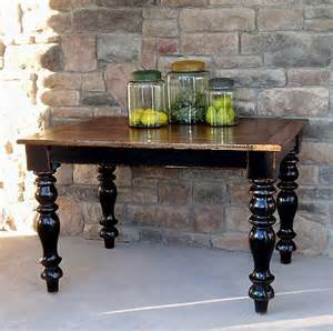 Wooden Kitchen Bench Varnish Kitchen Table Inspiration Black Legs And Wood Finish Top