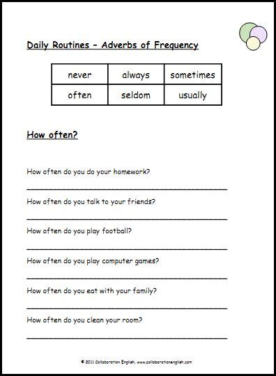 worksheets on adverbs of frequency esl adverbs of frequency worksheets 1 via teaching adverb worksheets