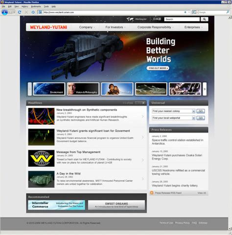 toyota corporate website websites for scifi s most evil corporations based