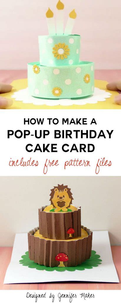 pattern pop up card birthday how to make a pop up birthday cake card jennifer maker