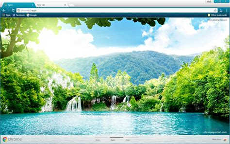theme chrome nature forest lake chrome theme chromeposta
