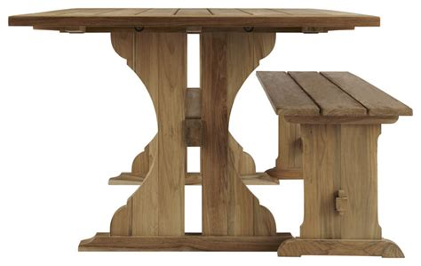 outdoor farm table and bench reclaimed teak farmhouse table and bench tk 250 tk 267