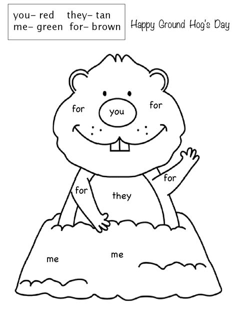 groundhog day number of days free printable groundhog day coloring pages